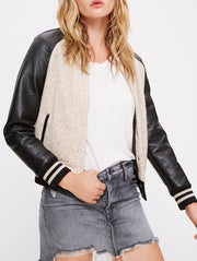 Mother Denim Letterman Snap Jacket at Blond Genius - 1