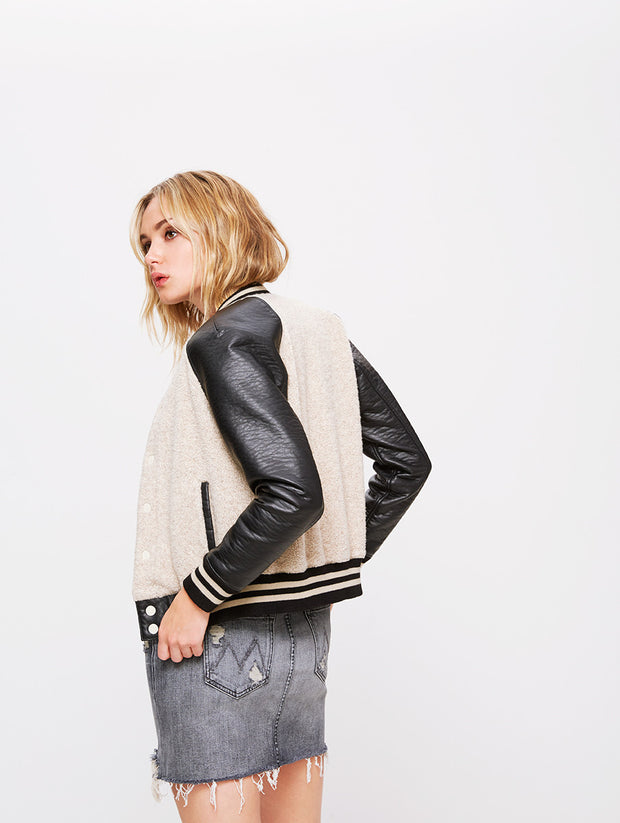 Mother Denim Letterman Snap Jacket at Blond Genius - 2
