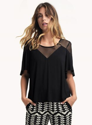 Ella Moss Flutter Sleeve Top at Blond Genius