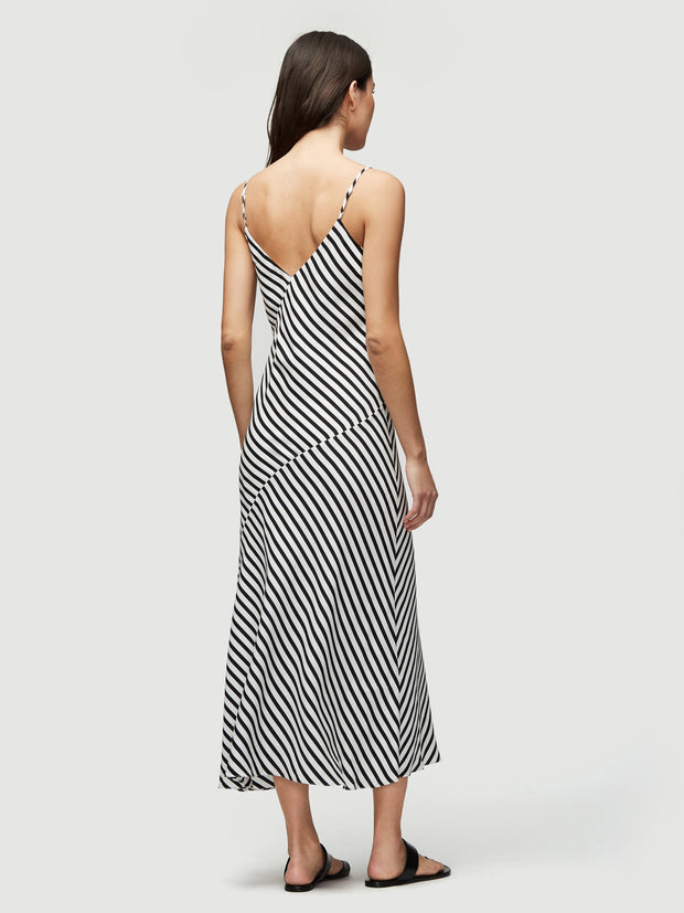 Frame - Bias Cami Dress in Noir Multi