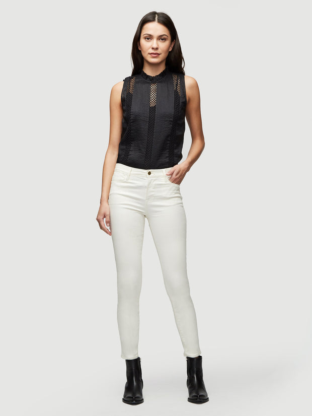 Frame - Le High Skinny Coated in Off White