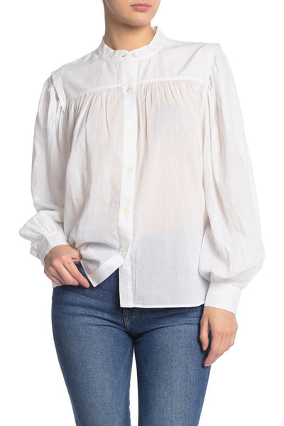 Frame - Voluminous Button Up in Blanc