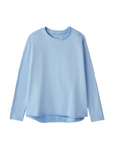 Frank & Eileen - Long Sleeve Capelet in French Blue