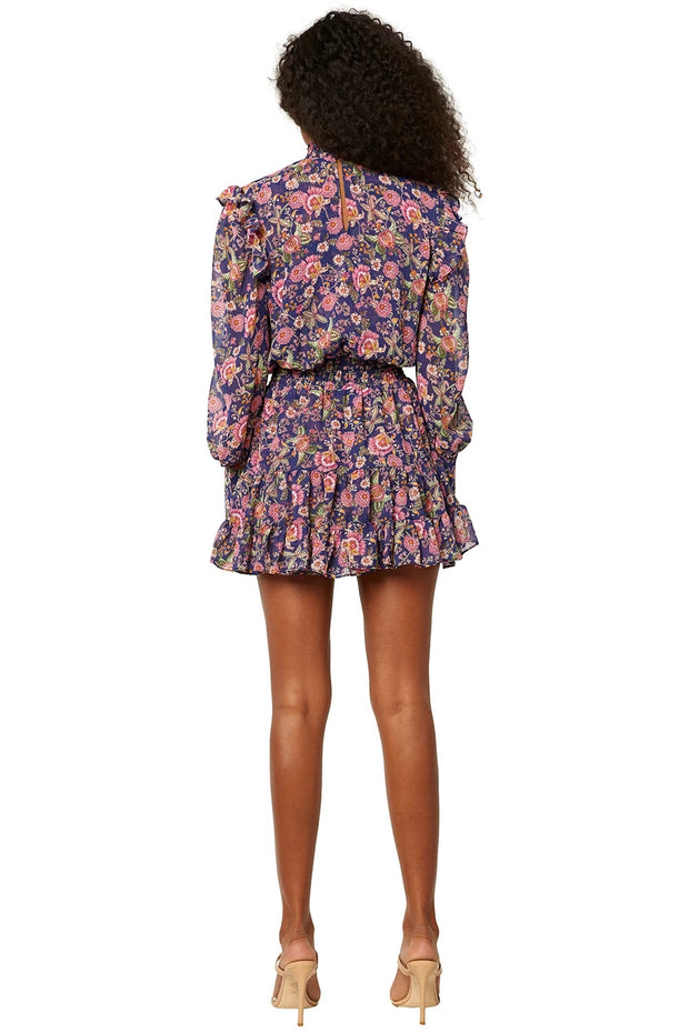 Misa - Gianna Dress in Falaise Floral (Navy)