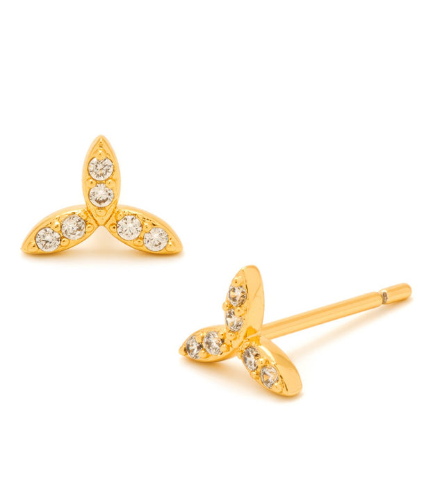 Gorjana Olympia Shimmer Mini Studs - Gold - at Blond Genius