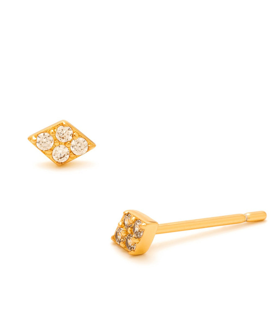 Gorjana Petra Shimmer Diamond Studs at Blond Genius