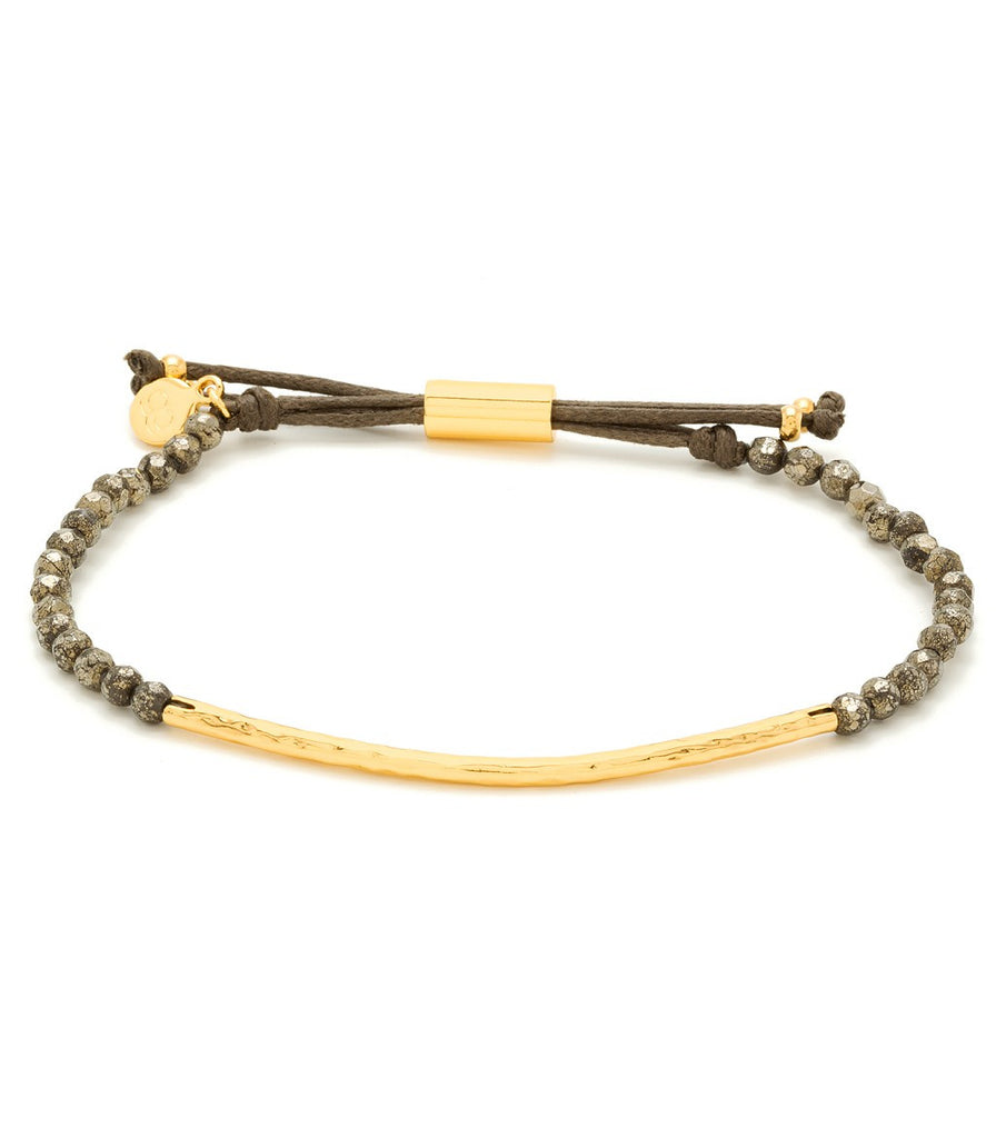 Gorjana Power Gemstone Bracelet Pyrite/Gold at Blond Genius - 1