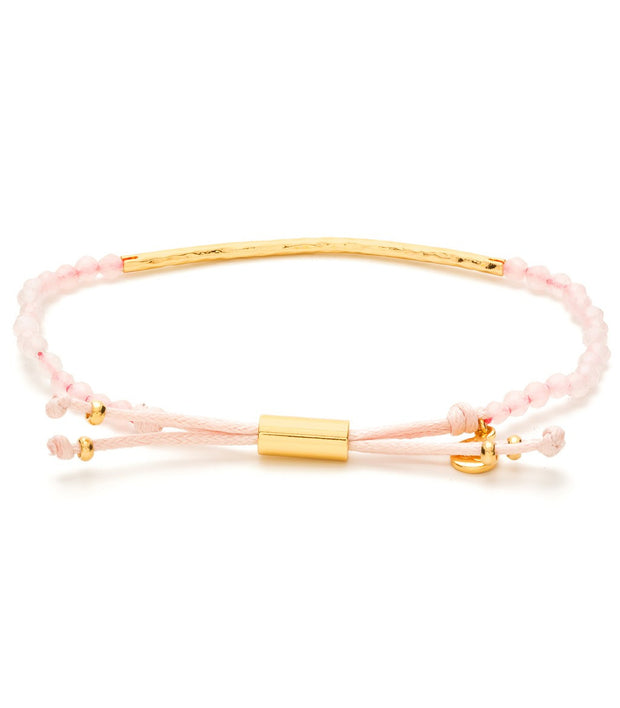 Gorjana Power Gemstone Bracelet Rose/Quartz at Blond Genius - 2