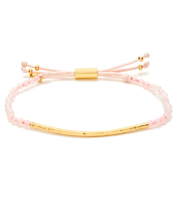 Gorjana Power Gemstone Bracelet Rose/Quartz at Blond Genius - 1