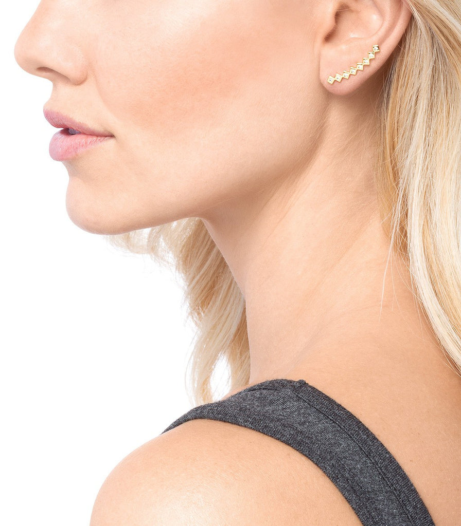 Gorjana Ryder Shimmer Ear Climbers at Blond Genius - 2