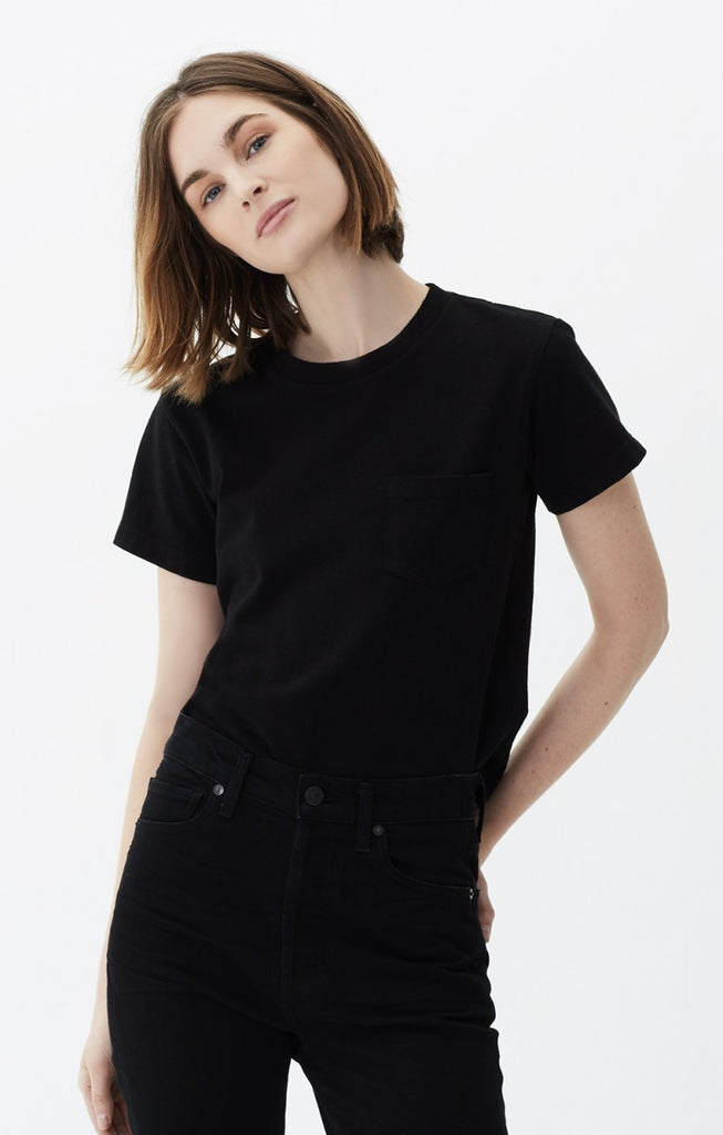 Citizens of Humanity- Grace Pocket Tee Black