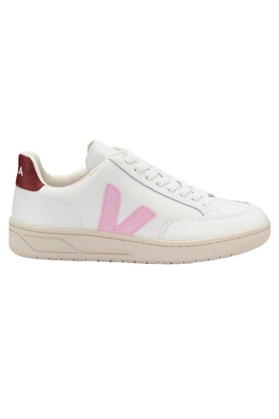 Veja Sneakers - V-12 Leather Extra White Guimauve Marsala