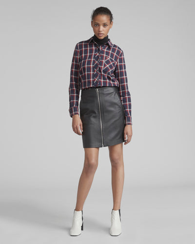 Rag & Bone - Heidi Leather Skirt Black
