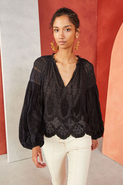 Ulla Johnson - Harper Blouse Noir