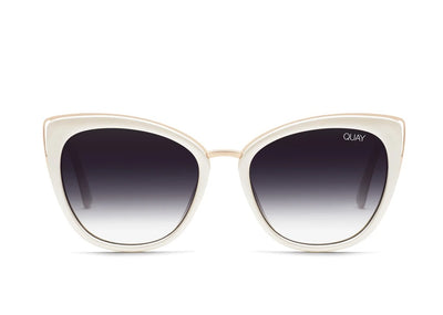 Quay Sunglasses - Honey in Pearl/Black Fade Lens