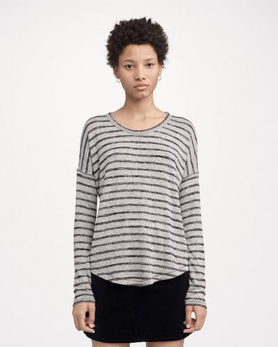 Rag & Bone - Hudson Long-Sleeve Heather Grey/Black