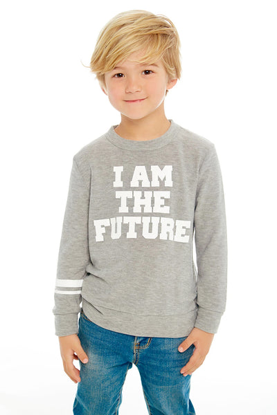 "CHASER KIDS - Boys Crew Neck Pullover Sweater ""I Am the Future"""