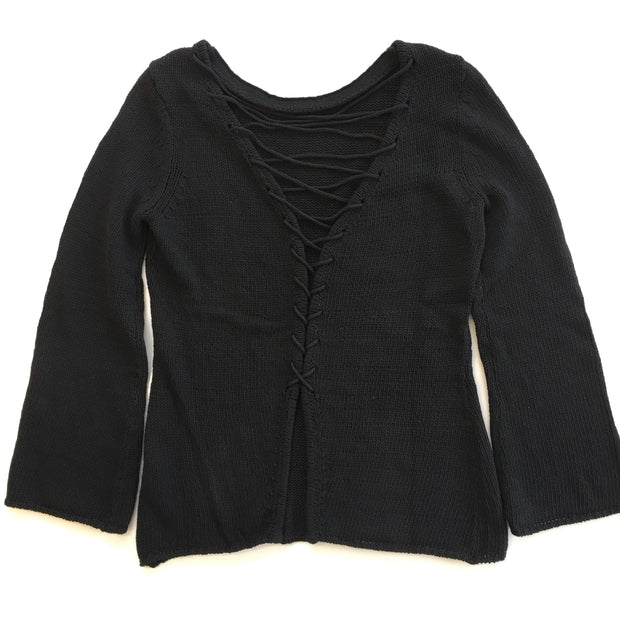 Central Park West - Lombard Lace Up Sweater