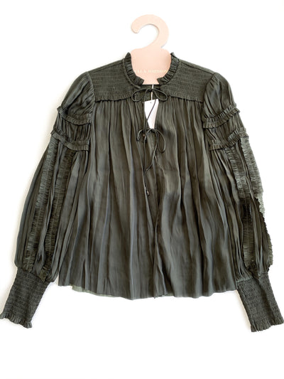 Ulla Johnson - Fernanda Blouse in Forest