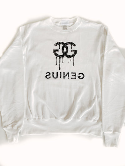 Blond Genius - Dripping Genius Sweatshirt in White