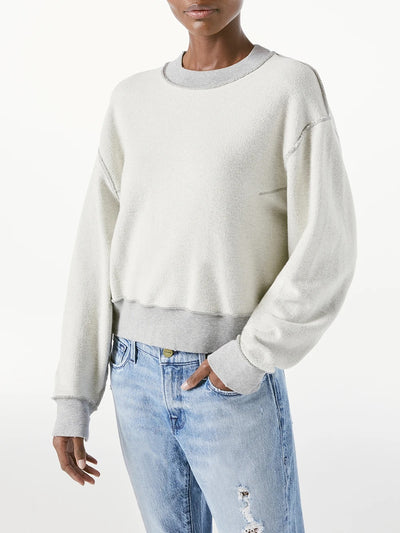 Frame - Inverse Easy Sweatshirt in Gris Heather