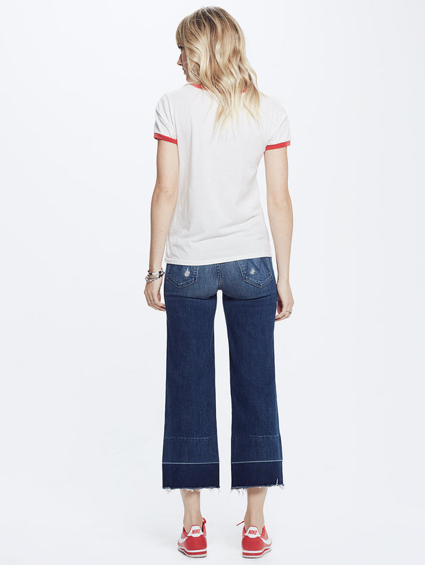 Mother Denim Mother- Itty Bitty Goodie Goodie Ringer Tee at Blond Genius - 2