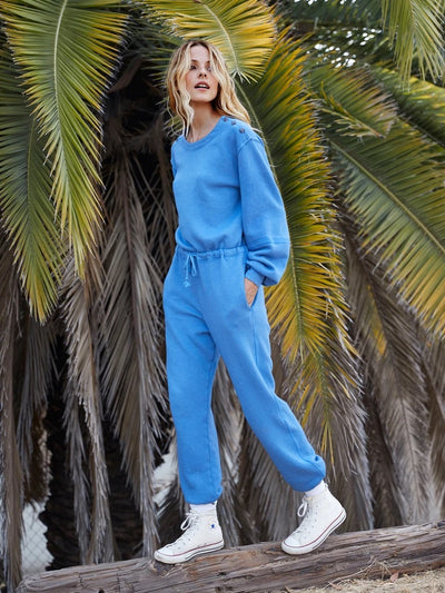 Xirena - Jenn Fleece Jumpsuit in Oceans
