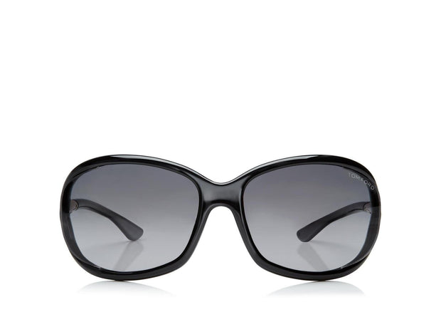Tom Ford - Jennifer Shiny Black/Smoke Polarized