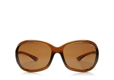Tom Ford - Jennifer Shiny Dark Brown/Brown Polarized