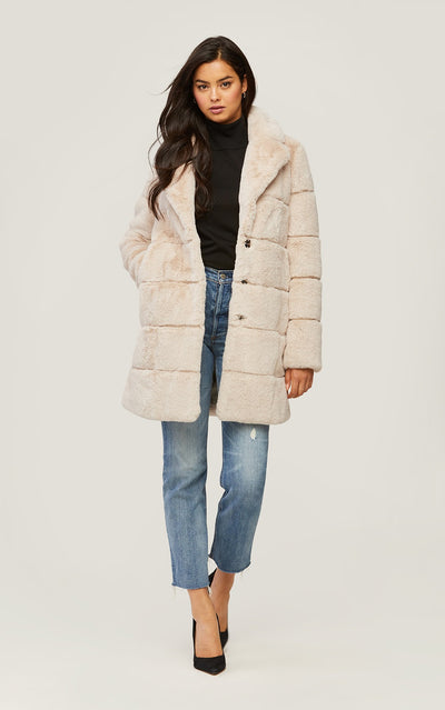 Soia & Kyo - Joan Faux Fur Coat in Sandstone