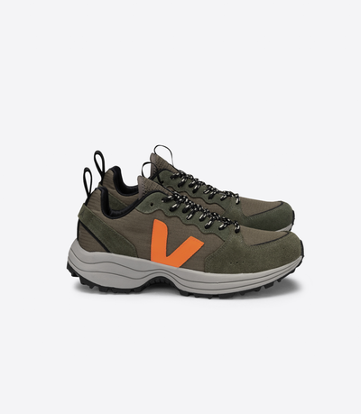 Veja - Venturi Ripstop Sneakers in Kaki Neon-Orange