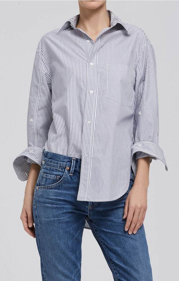 Citizens of Humanity - Kayla Shirt in Blue Stripe