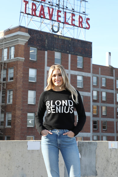 Blond Genius Signature Sweater in Black