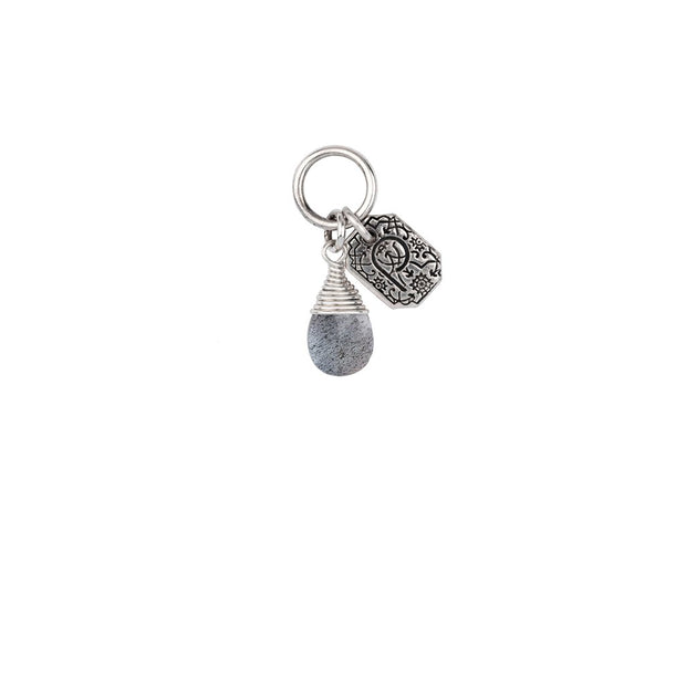 Pyrrha - Harmony Labradorite Signature Attraction Charm in Silver