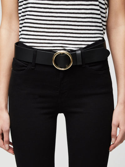 Frame - Le Circle Belt in Noir
