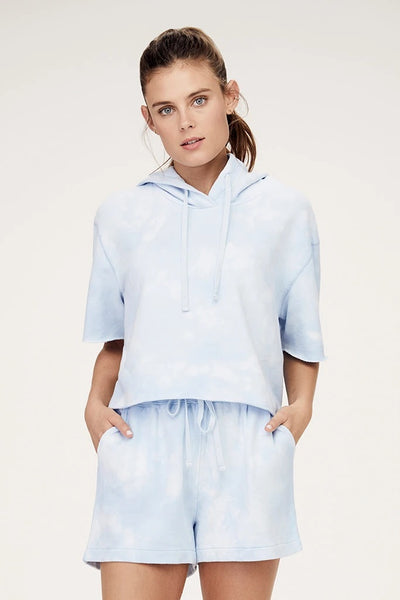 David Lerner - Lily Hooded Pullover in Blue Cloud