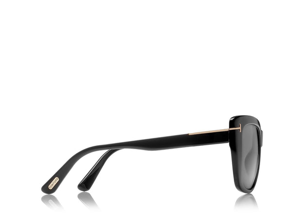 Tom Ford - Lindsay Shiny Black/Smoke Polarized
