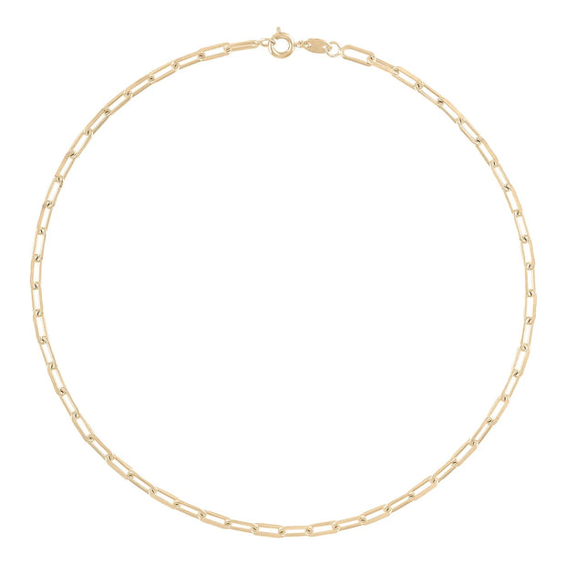 "Alexa Leigh - Link Chain Necklace 14"" in Yellow Gold"
