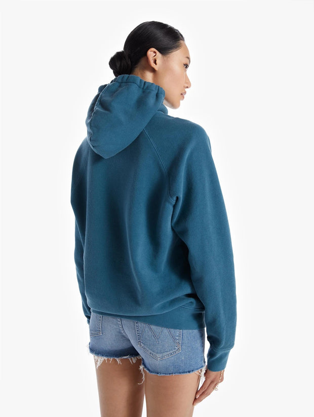 Mother - The Loafer Hoodie in Coral Blue in the Hot Seat