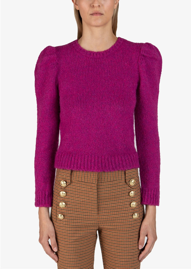Derek Lam 10 Crosby - Locken Puff Sleeve Sweater in Fuchsia