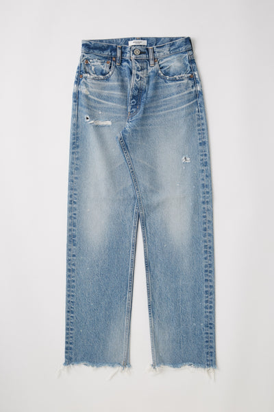 Moussy - MV Lomita Wide Straight Leg Jeans in Blue 110