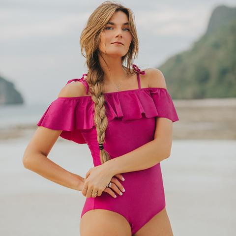 Albion - The Wave, Magenta One-Piece Swimsuit
