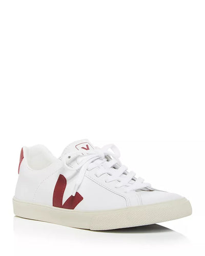 Veja Sneakers - Esplar Logo Leather Extra White Marsala