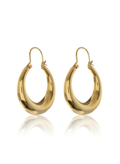 LUV AJ - Martina Tube Hoops in Gold