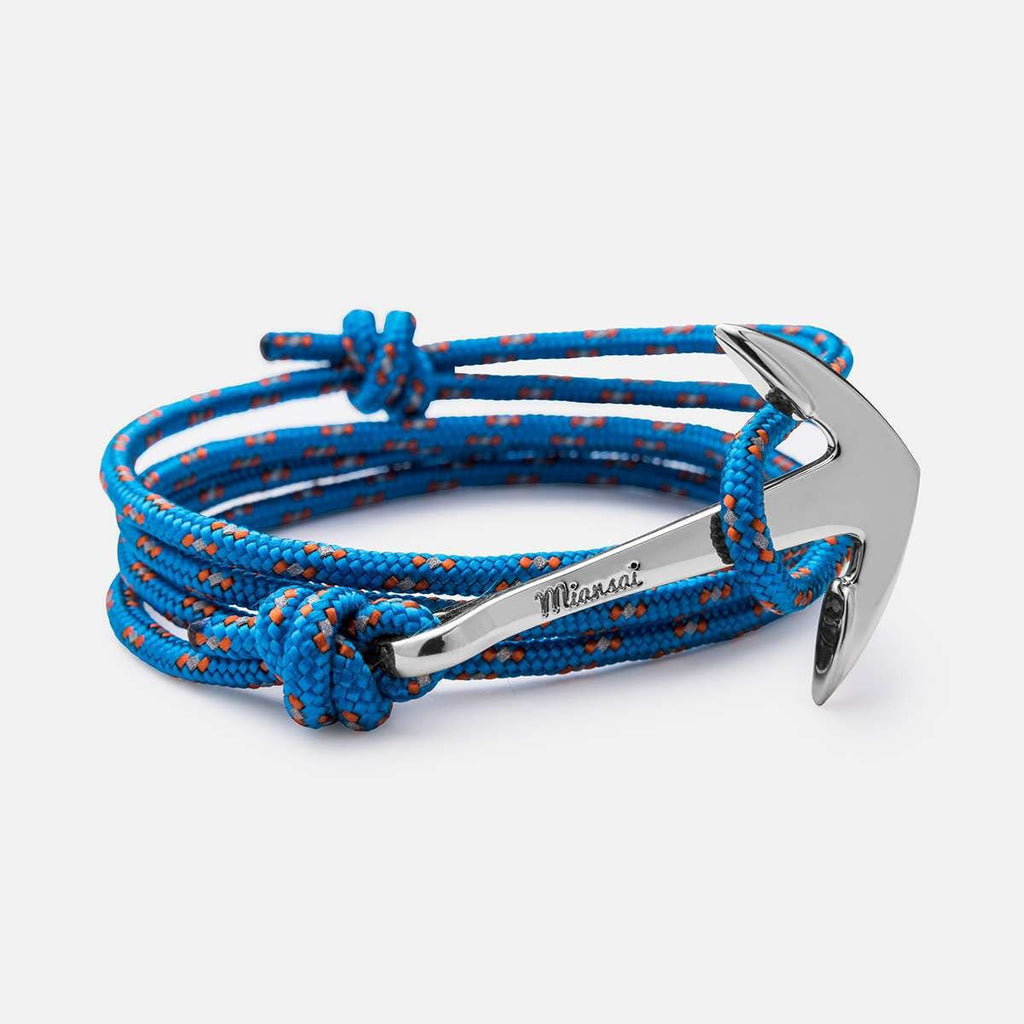 Miansai Anchor On Rope Bracelet Carribean at Blond Genius