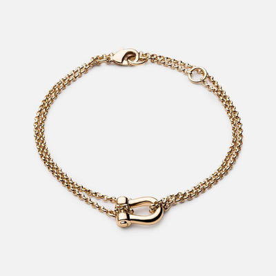 Miansai D Link Chain Bracelet - Gold Plated at Blond Genius