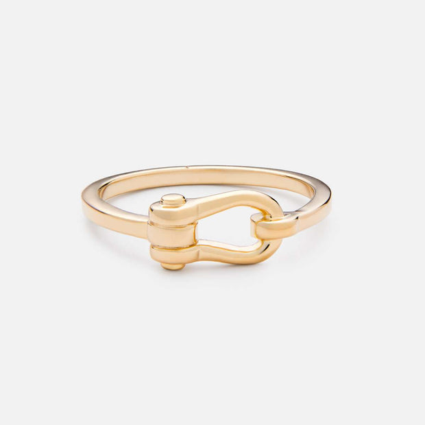 Miansai D Link Ring Gold Vermeil at Blond Genius