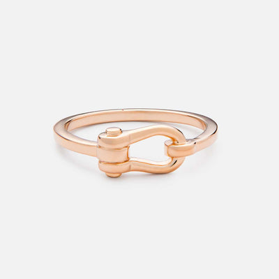 Miansai D Link Ring Rose Vermeil at Blond Genius