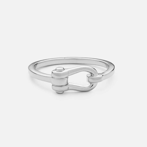 Miansai D Link Ring Sterling Silver at Blond Genius