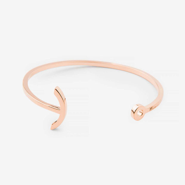 Miansai Mini Anchored Cuff Rose Vermeil at Blond Genius